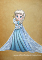 Little Elsa - disney-heroines fan art