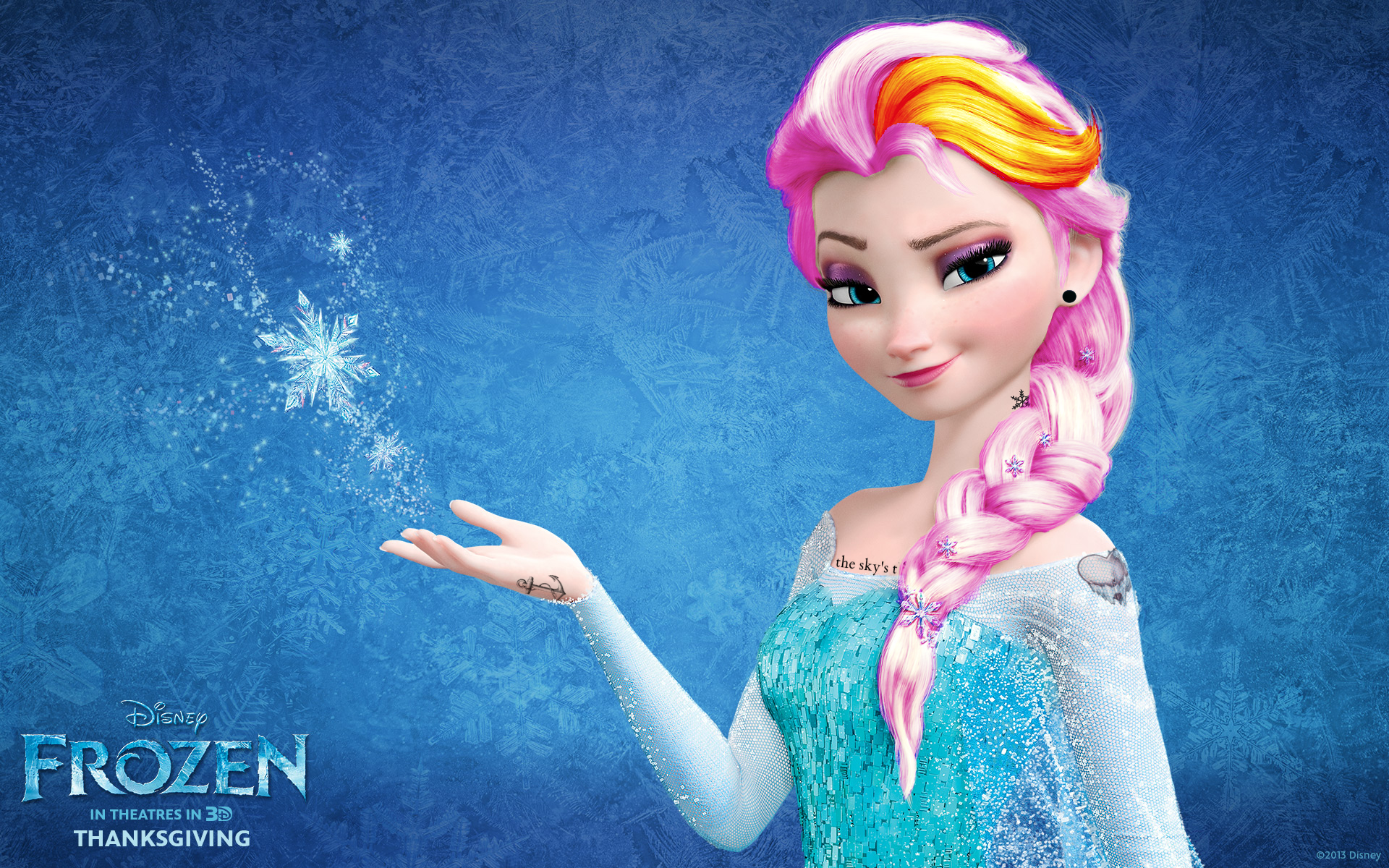 Elsa frozen punk edit disney princess wallpaper - Princesse frozen ...