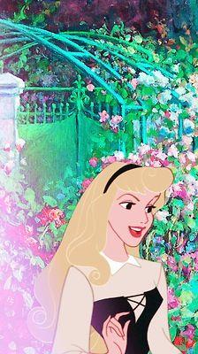 Disney Princesses meet وین Gogh - Aurora