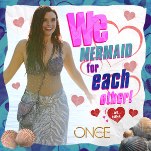Ariel Once Upon A Time Valentines Tag Card