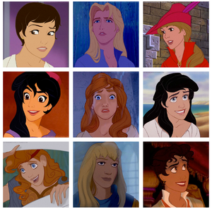 Genderbent Disney Princes