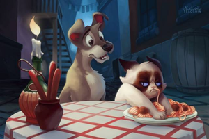 LADY AND THE TRAMP Grumpy Cat