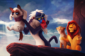 THE LION KING Grumpy Cat - disney fan art