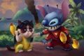 LILO AND STITCH Grumpy Cat - disney fan art
