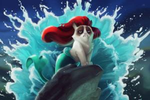 THE LITTLE MERMAID Grumpy Cat