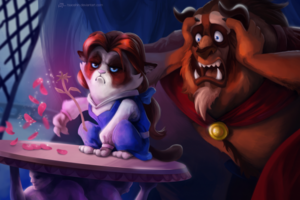 BEAUTY AND THE BEAST Grumpy Cat