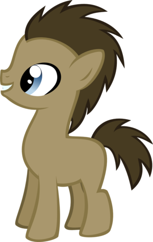 Doctor Whooves as a filly