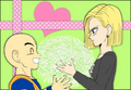~ For Valentine's Day ~ Krillin X Android 18 - dragon-ball-females fan art