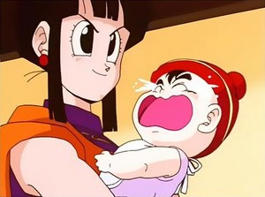 Chichi with baby Gohan