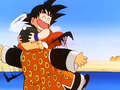 Goku holds Granpa Gohan - dragon-ball photo