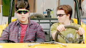 canard, drake and Josh and the dune buggy