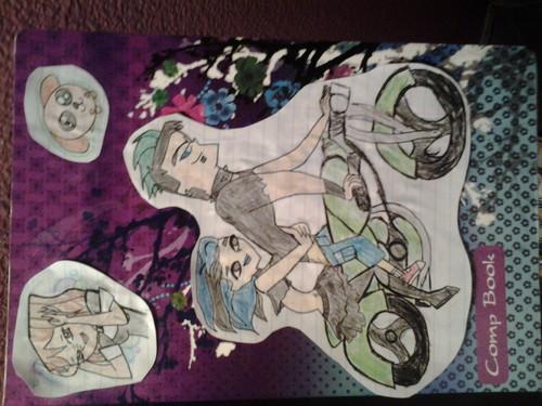 DuncanxGwen/DelinquintxGoth Hintergrund containing Anime called My Notebook