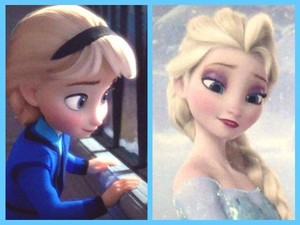 little Elsa and older Elsa