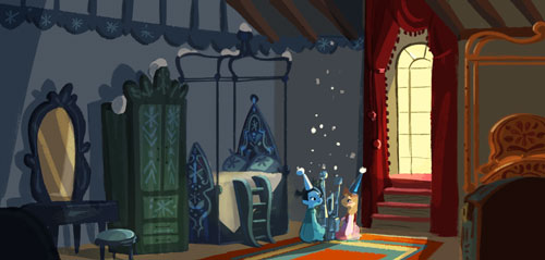 attic bedroom ideas tumblr - Frozen Early Visual Development Elsa and Anna