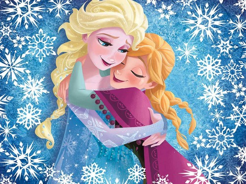 Elsa und Anna Hintergrund entitled Elsa and Anna Hintergrund