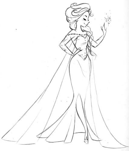 elsa the snow queen images elsa sketch hd wallpaper and background Happy Elsa Frozen Coronation Day elsa the snow queen wallpaper called elsa sketch