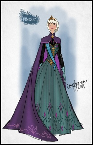 Elsa Costume design concept for the Frozen Musical (Fan made)