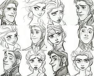Elsa and Hans Sketches