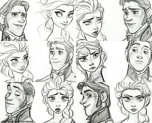 elsa the snow queen images elsa and hans sketches wallpaper and Elsa Frozen Coronation Hair Down elsa the snow queen wallpaper with anime titled elsa and hans sketches