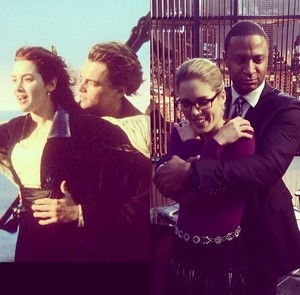 """Just another Tag on set wit Kate W, Leo D, @emilybett @david_ramsey Delicity"""