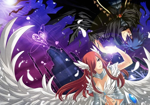 Fairy Tail wallpaper possibly containing anime entitled Jerza