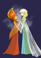 Fire and Ice - flame-princess fan art