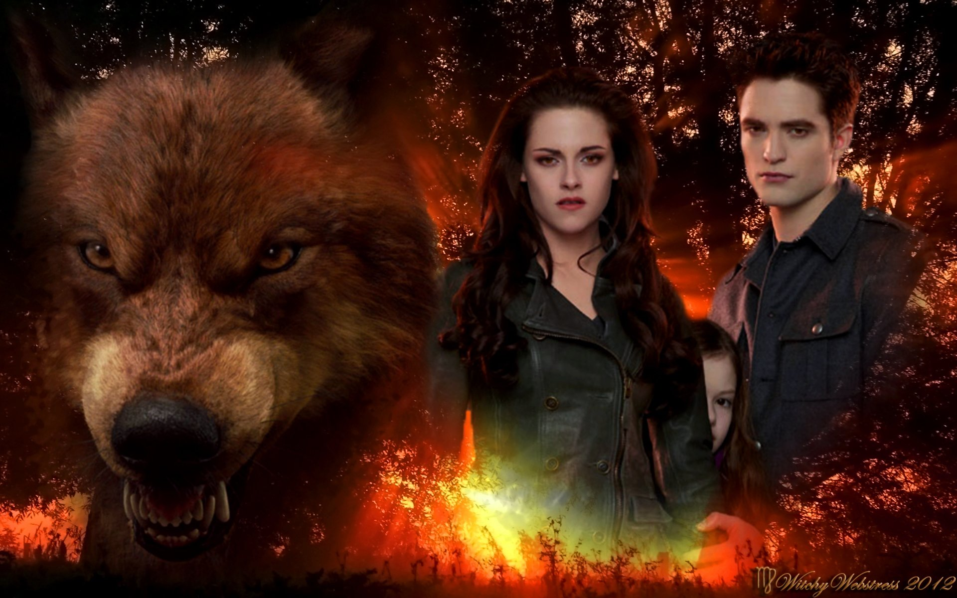 forever love twilight images jacob, bella, renesmee and edward hd