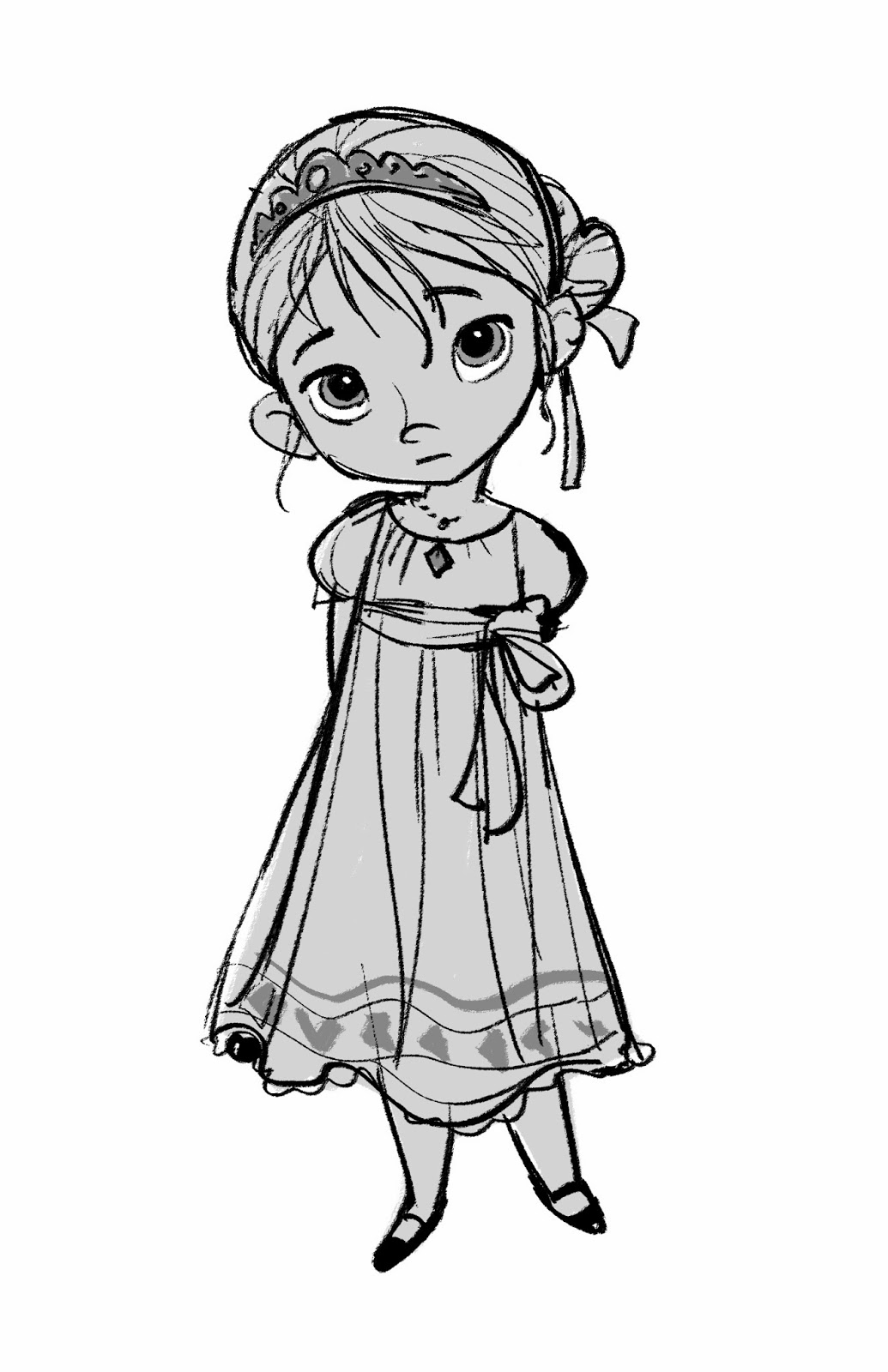 Young Anna Coloring Pages Elsa Concept Art - Fro...