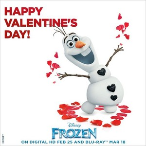 Happy Valentine's день from Olaf!