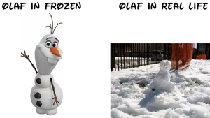 Olaf In Real Life VS Frozen - Uma Aventura Congelante