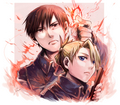 Roy Mustang and Riza Hawkeye - full-metal-alchemist fan art