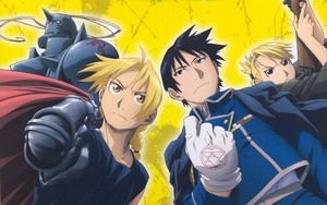 Edward, Alphonse, Roy and Riza