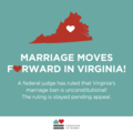 Marriage Moves Forward in Virginia!