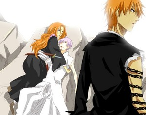 Gin and Rangiku (and Ichigo)