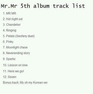 Possible tracklist of Girls Generation 'Mr. Mr'