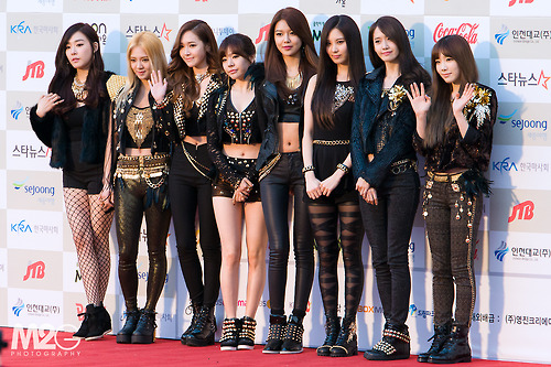 Girls Generation/SNSD wallpaper possibly containing a swimsuit titled SNSD - Red Carpet
