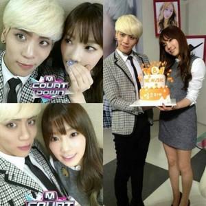 Taeyeon with SHINee Jonghyun