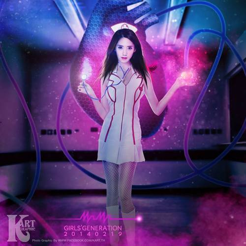 Girl's Generation/SNSD karatasi la kupamba ukuta probably with a tamasha called Yoona Sexy Nurse