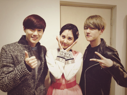 Girls Generation/SNSD wallpaper called SNSD Seohyun and EXO Suho and Baekhyun