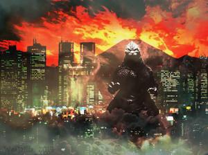 Godzilla Tokyo at night