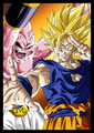 *Kid Buu v/s Goku* - goku photo