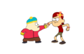 Zoey (Dipper) vs. Cartman (Gideon) - gravity-falls fan art