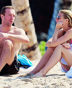 Gwyneth Paltrow and Chris Martin, January 2014.