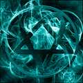 blue heartagram wallpaper