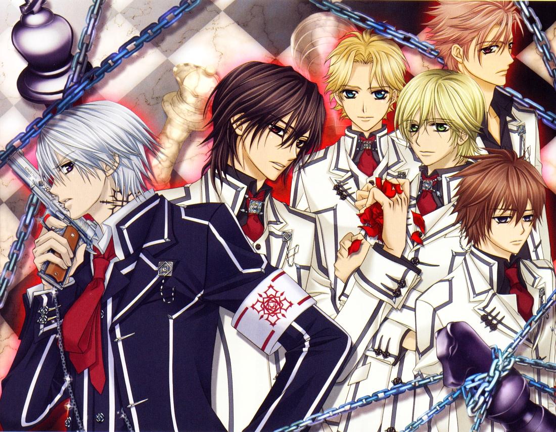 Anime Characters Vampire Knight : Hanabusa aidou zero kaname ichijou kain and shiki