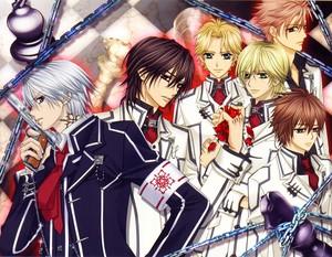 Hanabusa Aidou, Zero, Kaname, Ichijou, Kain and Shiki