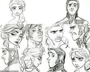 Hans and Elsa Sketches