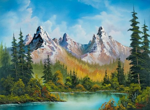 Have fun images nice painting by bob ross wallpaper and for Nice acrylic paintings