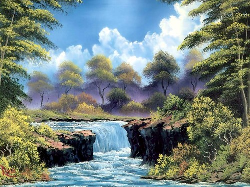 Have fun images bob ross painting hd wallpaper and background have fun wallpaper possibly containing a riparian forest entitled bob ross painting voltagebd Choice Image