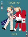 Canada and America~  - hetalia fan art